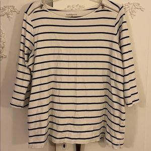 Striped 3/4 sleeved pull over top.SZ 1X